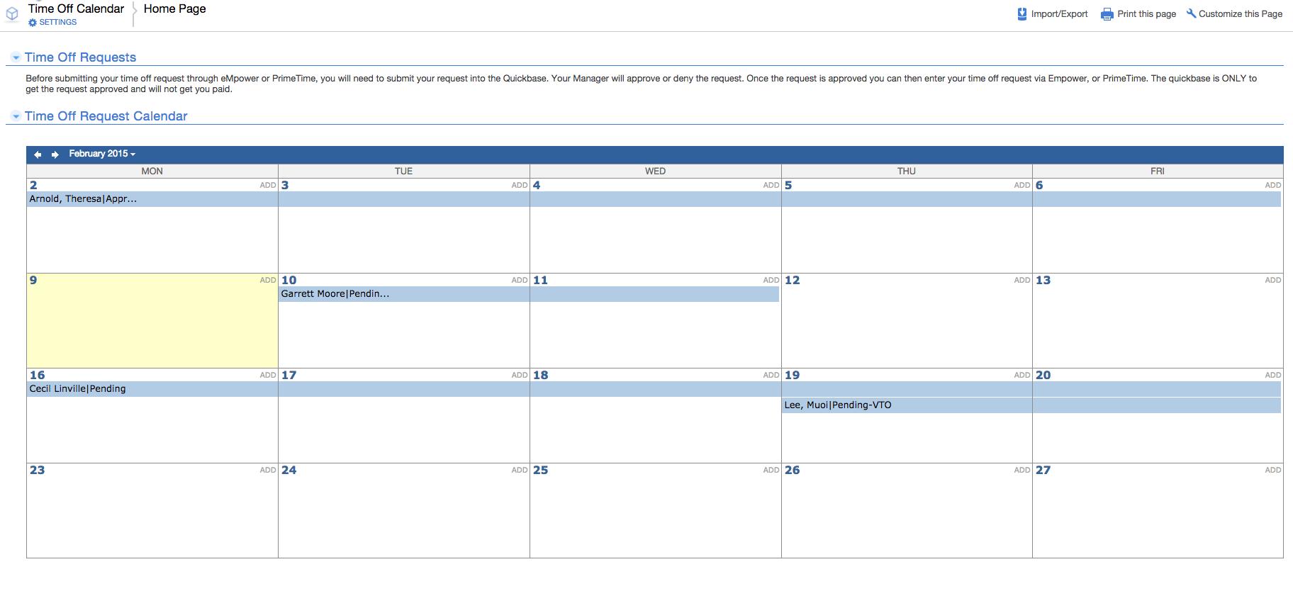 Time Off Request Calendar Template Binder Pedigreeadoptame Co