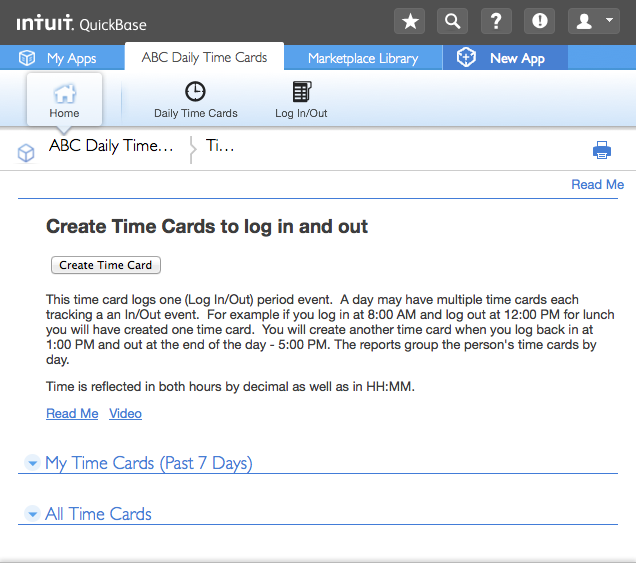 the time is tracked by person by day for multiple inout events see video httpscreencastcomtpu1ziavqy - Time Card Tracker