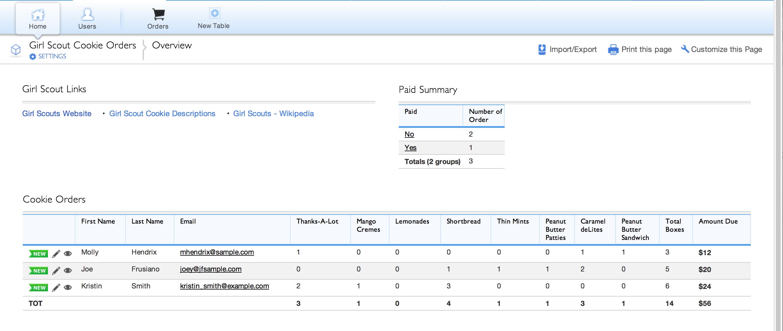order tracking spreadsheet